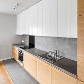 Contemporary Kitchen Interior poster