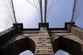 The Brooklyn Bridge, built in 1883, is one of the oldest suspension bridges in the United States. Vi