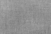 Rough Gray Linen Cloth. Flax Texture And Background. poster