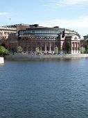 picture of caucus  - an image of the swedish parliamentary buildings in the capital of stockholm