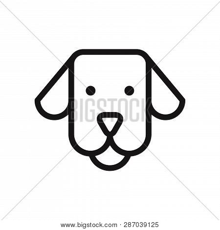 poster of Dog Face Icon Isolated On White Background. Dog Face Icon In Trendy Design Style. Dog Face Vector Ic