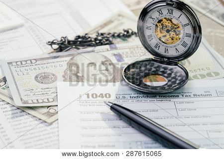 Tax Time In April Concept