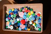 Sewing Buttons, Plastic Buttons, Colorful Buttons, Buttons Close Up poster