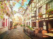 Petit France Medieval District Of Strasbourg At Spring, Alsace France poster