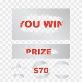 Scratch Card Win Effect. Lottery Cover For Scratch Card poster