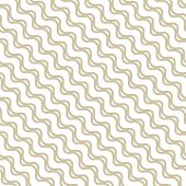 Golden Waves Seamless Pattern. Abstract Vector Texture With Diagonal Wavy Lines, Stripes, Curved Sha poster