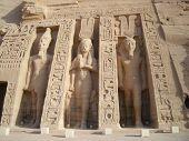 picture of aswan dam  - Nefertari Temple at Abu Simbel in Egypt - JPG