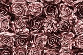Shiny rose gold roses background poster