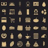Cooking Icons Set. Simple Style Of 36 Cooking Vector Icons For Web For Any Design poster