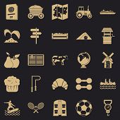 Water Recreation Icons Set. Simple Set Of 25 Water Recreation Icons For Web For Any Design poster