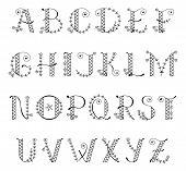 Decorative Cute Alphabet - Illustration Alphabet, Alphabetical Order, Bouquet, Capital Letter, Flowe poster