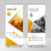 Business Roll Up Design Template, X-stand, Vertical Flag-banner Design Layout, Standee Display Promo poster