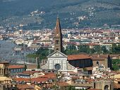 Florence -The Santa Maria Novella seen from the Boboli Gardens