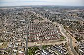picture of snowbird  - Red roofs in a subdivision of Yuma Arizona - JPG