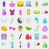 Beauty Salon Icons Set. Cartoon Style Of 36 Beauty Salon Vector Icons For Web For Any Design poster