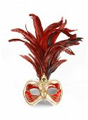 picture of mardi-gras  - Decorative venetian carnival mask isolated on white background - JPG
