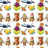 stock photo of top-less  - illustration of toys on a white background - JPG