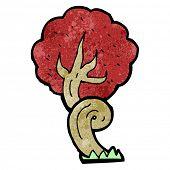 stock photo of twisty  - cartoon twisty tree - JPG