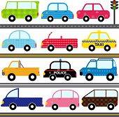 image of four-wheel drive  - A set of cute Vector Icons  - JPG