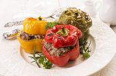 picture of pimiento  - bell peppers stuffed with minced meat - JPG