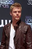 LOS ANGELES - AUG 1:  Derek Hough arrives at the 2013 Young Hollywood Awards at the Broad Stage on A