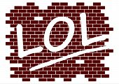 picture of lol  - Rubber stamp with the word lol on a white background - JPG