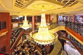 MONTE CARLO, MONACO - JULY 13: Interior view of Metropole Shopping Center with 80 luxury shops and b