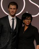 LOS ANGELES - JAN 16:  Chris Hemsworth, Cheryl Boone Isaacs at the 86th Academy Awards Nominations A