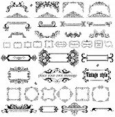 stock photo of adornment  - Retro heading and frames - JPG