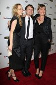 LOS ANGELES - JAN 11:  Guest, Damon Herriman, Radha Mitchell at the  2014 G'Day USA Los Angeles Blac