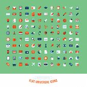 image of electronic commerce  - Flat design icons for business - JPG
