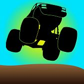 foto of monster-truck  - simplest drawing monster vehicles at high speed - JPG