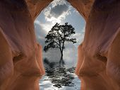 stock photo of cave  - Water Cave - JPG