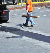 Постер, плакат: Portholes asphalt repairs