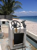stock photo of batangas  - boat shell on beach in philippines - JPG