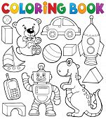 pic of toy phone  - Coloring book with toys thematics 2  - JPG
