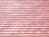 foto of red roof tile  - Clay roof tiles red textured pattern background - JPG