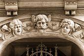 stock photo of art nouveau  - The bas - JPG