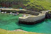 picture of fleet  - The village of Boscastle site on the Atlantic coast in north Cornwall in the southwest of England - JPG