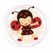 pic of ladybug  - A beautiful ladybug baby card - JPG