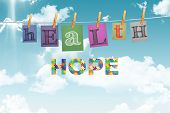 picture of aspergers  - Autism message of hope against digitally generated grey background - JPG