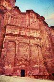 stock photo of petra jordan  - Tombs that are called  - JPG