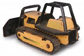 picture of bulldozers  - Shot of a toy bulldozer isolated over white - JPG