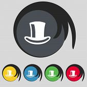 image of cylinder  - cylinder hat icon sign - JPG