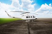 picture of helicopters  - Helicopter parking on the airport - JPG