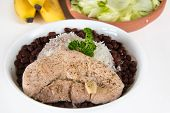 stock photo of creole  - Traditional Creole Cuban Cuisine - JPG