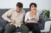 stock photo of wifes  - A Man complains about what - JPG
