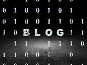 stock photo of binary code  - Web design concept - JPG