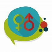 picture of gender  - Gender Symbol Flat Icon With Long Shadow - JPG