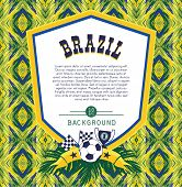 picture of brazilian carnival  - Vector frame with traditional Brazilian football theme - JPG